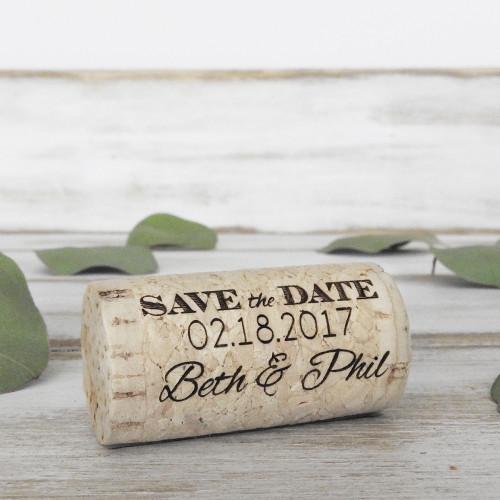 Save The Date Whole Corks - Option 1 - CorkeyCreations.com