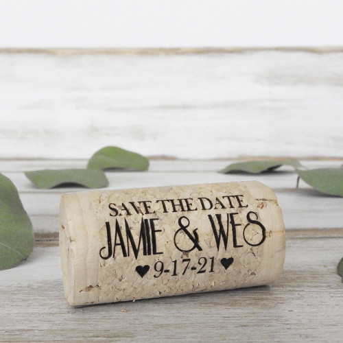 Save the Date Whole Corks - CorkeyCreations.com