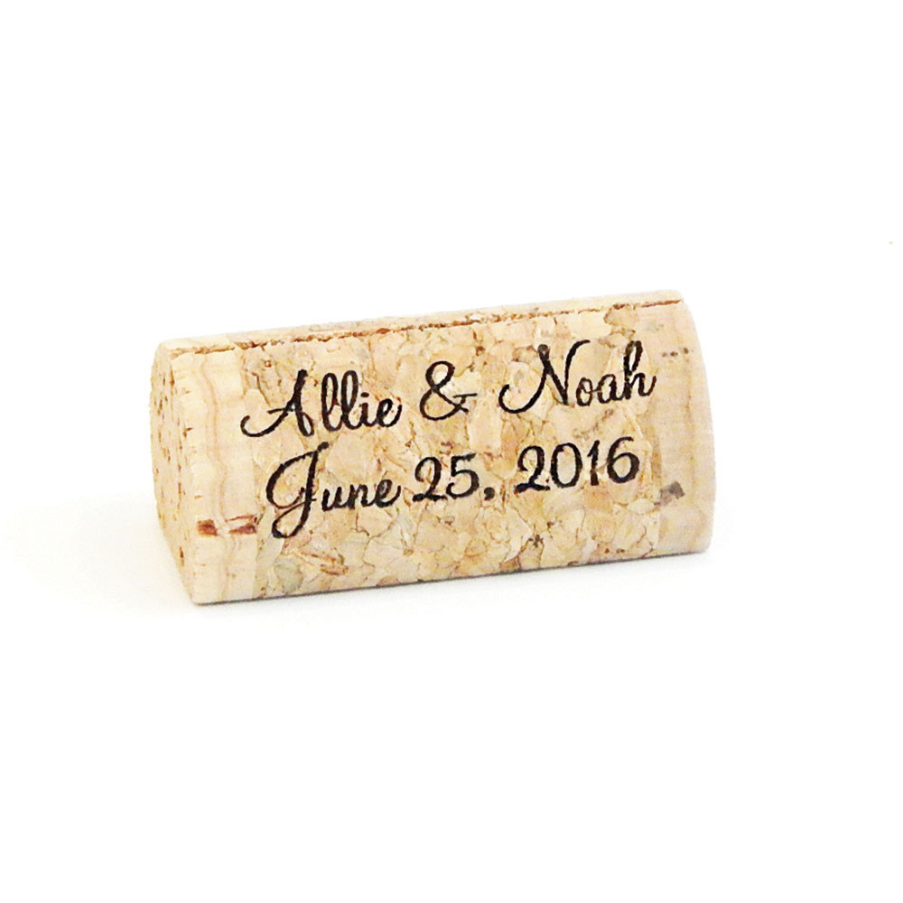 Peronalized Wine Cork Place Card Holders Corkeycreationscom