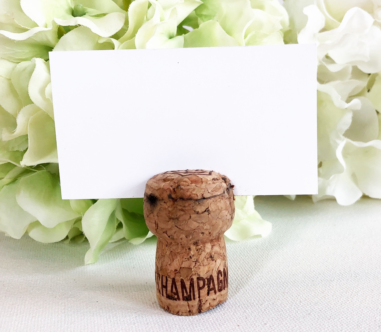 Champagne Cork Place Card Holders Corkeycreationscom