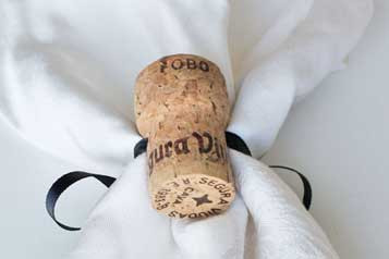Champagne Cork Napkin Rings - CorkeyCreations.com