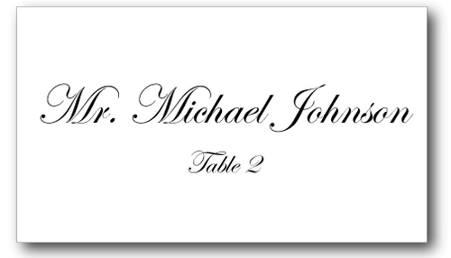 Place Cards - Plain - CorkeyCreations.com