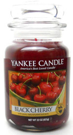 Yankee Candle Scented 22 oz Large Jar Candle - Black Cherry New