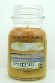 Yankee Candle Sunset Breeze Large Glass Jar 623 g/ 22 oz. New