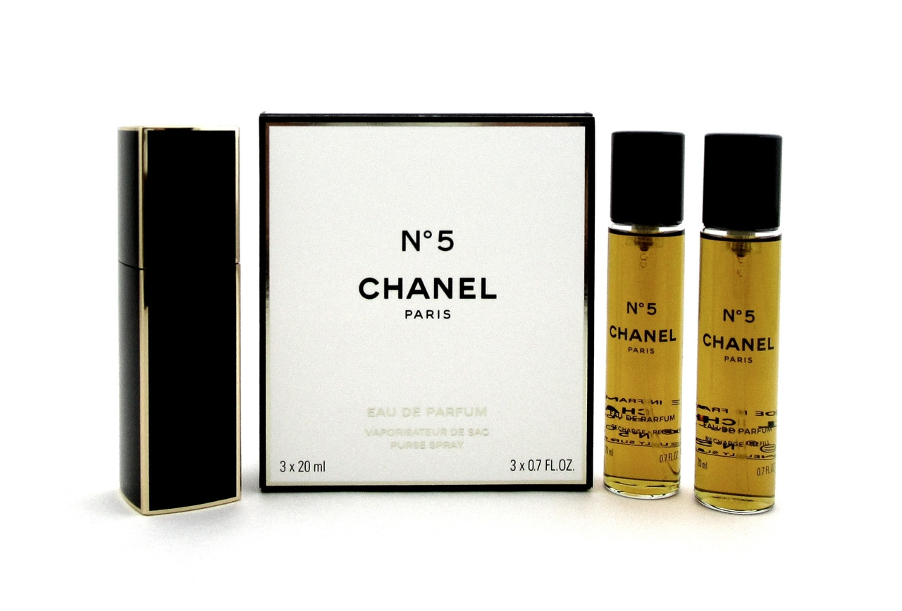 cfeafd4617c3 Chanel No. 5 by Chanel Twist and Spray Eau de Parfum Purse Spray 3 x ...