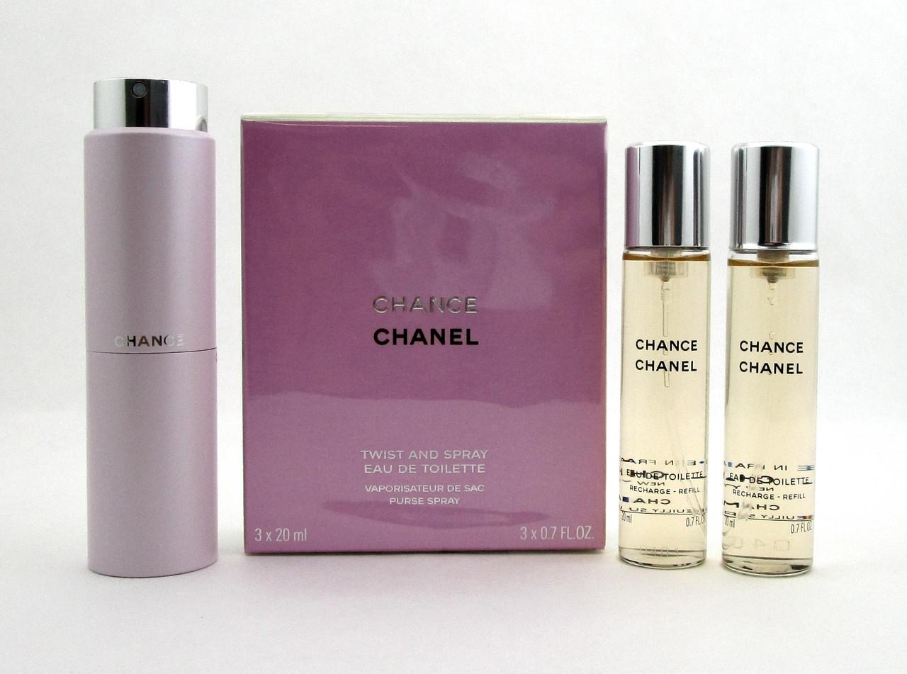 50dea371a9cd4e Chanel Chance Twist and Spray Eau de Toilette Purse Spray 3 x 20 ml ...