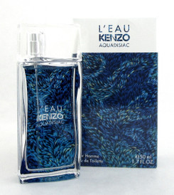 L'Eau Kenzo AQUADISIAC by Kenzo 1.7 oz. Eau de Toilette Spray for Men NIB Sealed