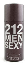 212 MEN SEXY by Carolina Herrera Deodorant Spray 5.1oz./150ml.for Men.New.Sealed