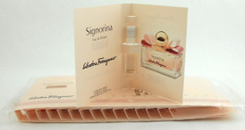 Signorina Perfume by Salvatore Ferragamo 15 x 0.05 oz EDP Vials. Sealed Bag..