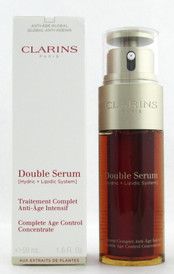 Clarins Double Serum Complete Age Control Concentrate 50 ml./ 1.6 oz. New 2017 Formula Damaged Box