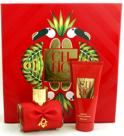 CH PRIVEE by Carolina Herrera 2.7 oz.EDP Spray + 3.4 oz. Exfoliating Body Cream. New Set.