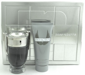 Invictus by Paco Rabanne 3.4 oz.EDT Spray + 3.4 oz.A/O/SH. New Set. Comes in metal box.