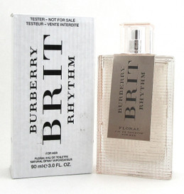 Burberry BRIT RHYTHM FLORAL 3.0 oz. EDT Spray for Women. New Tester with Cap.