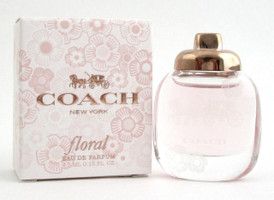 Coach New York FLORAL by Coach Mini 0.15 oz./ 4.5 ml. EDP Splash for Women. NEW.