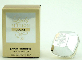 Lady Million LUCKY Perfume by Paco Rabanne Eau De Parfum SPLASH for Women 5 ml./ 0.17 oz. MINI
