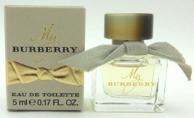 My Burberry Perfume Mini Bottle Splash Eau de Toilette 0.17 oz./ 5 ml. for Women. New in Box.