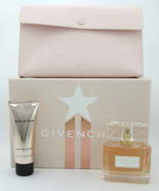 Dahlia Divin by Givenchy 3pc Gift Set for Women Includes: Eau De Parfum Spray 75 ml./ 2.5 oz. + Perfuming & Moisturizing Skin Dew 75 ml./ 2.5 oz. + Pouch