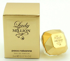 Lady Million by Paco Rabanne Eau De Parfum SPLASH for Women 0.17 oz. MINI. Brand new.