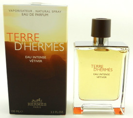 Terre D'Hermes Eau Intense Vetiver Cologne by Hermes EDP Spray 3.3 oz.Sealed Box