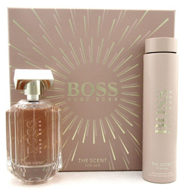 Boss The Scent for Her by Hugo Boss Set: 3.3oz.EDP Spray& 6.7oz.Body Lotion. NEW Set