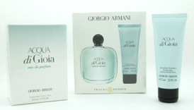 Acqua Di Gioia by Giorgio Armani 2 Piece Gift Set for Women Includes: (Eau De Parfum Spray 100 ml./ 3.4 oz.+ Moisturizing Perfumed Body Lotion 75 ml./ 2.5 oz.) Sealed Damaged Box