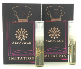 Amouage IMITATION MAN EDP EDP 2ml Vial Spray New With Card. Lot of 2