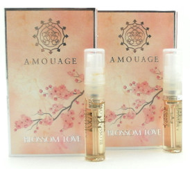 Amouage BLOSSOM LOVE Woman EDP Vial Spray 2 ml. Lot of 2 VIALS. New.
