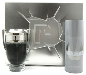 Invictus by Paco Rabanne Set for Men: 3.4oz. EDT Spray + 5.1oz. Deo.Spray. NEW.