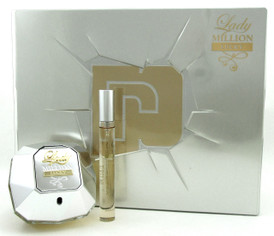 Lady Million LUCKY by Paco Rabanne Set for Women: 2.7 oz.+10 ml. EDP Spray. New.