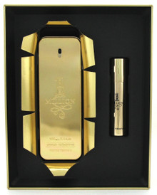 1 Million Cologne by Paco Rabanne: 3.4oz.+10ml. EDT Spray. New Set in Metal Box.