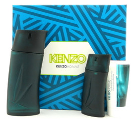 Kenzo Pour Homme by Kenzo 3.4 oz EDT Cologne Gift Set for Men New In Box