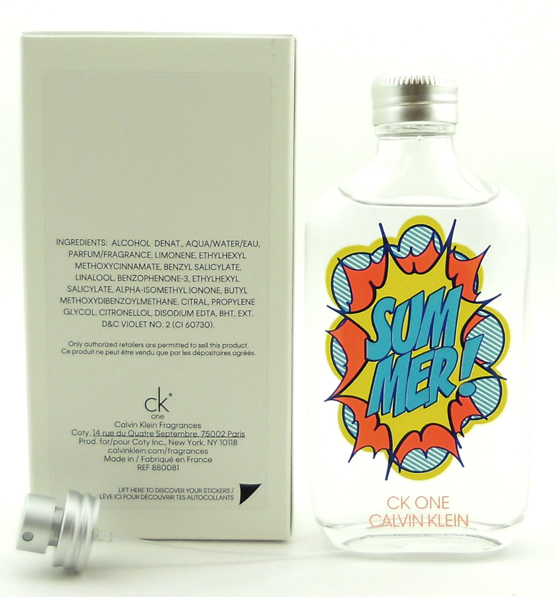 Ck One Summer 2019 Cologne 3 3 oz EDT Spray Limited Edition New in Sealed  Box
