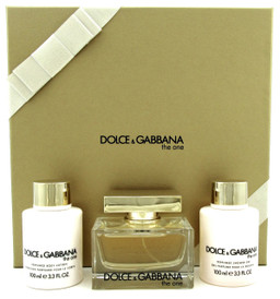 Dolce & Gabbana The One Set for Women: 2.5oz.EDP Spr +3.3oz.B/Lot & Sh/Gel. NEW