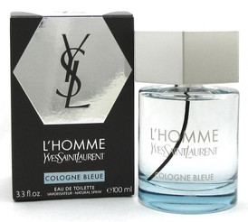 L'Homme Cologne Bleue by Yves Saint Laurent 3.3 oz.EDT Spray. New. NO Cellophane