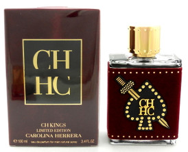 CH KINGS Cologne by Carolina Herrera 3.4 oz EDP Spray for Men Damaged Box