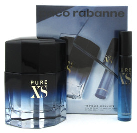 PURE XS by Paco Rabanne 2Pcs Set for Men:EDT Spray 3.4 oz.+20 ml. New Sealed Box