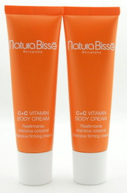 Natura Bisse C+C Vitamin Body Cream Tube 2 X 1 oz Total 60 ml New without Box