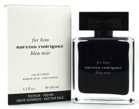 Narciso Rodriguez Bleu Noir Cologne for Him 3.3 oz. EDT Spray. New Tester w/Cap.