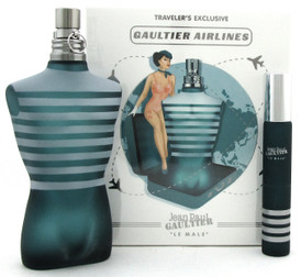 Jean Paul Gaultier Le Male Travel Set for Men: 4.2 oz.+ 20 ml. EDT Spray. New