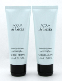 Acqua di Gioia by Giorgio Armani Perfumed Body Lotion 2.5 oz. LOT of 2 pcs