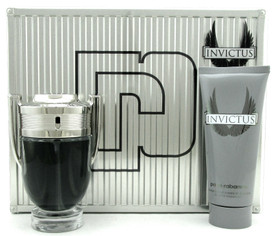 Invictus by Paco Rabanne Set:3.4 oz.EDT+3.4 oz.All Over Shampoo.New in Metal Box