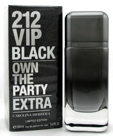 212 VIP BLACK EXTRA by Carolina Herrera 3.4 oz EDP Spray Men. New Sealed Box