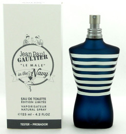 Jean Paul Gaultier Le Male In The Navy Edition 4.2oz EDT Spray Tester Never used