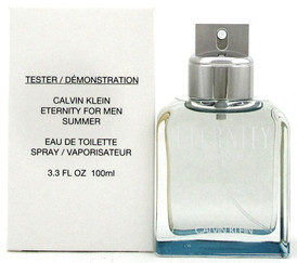 Eternity Summer 2019 Men's Cologne by Calvin Klein 3.3 oz EDT Spray. NEW Tester.