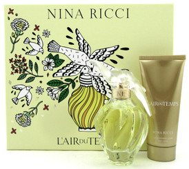 L'air Du Temps by Nina Ricci SET: 3.4 oz.EDT Spray + 3.4 oz.B/Lotion. New in Box