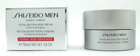 Shiseido Men Total Revitalizer Cream Tones & Energizes Total Age-Defense 50 ml./ 1.8 oz. NIB