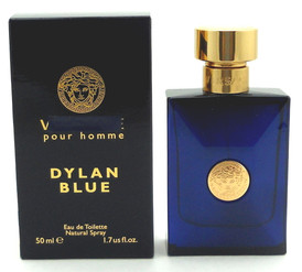 Versace Pour Homme Dylan Blue by Versace 1.7 oz EDT Spray Damaged Sealed Box