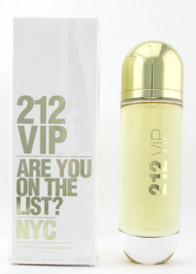 212 VIP by Carolina Herrera Eau De Parfum Spray for Women 125 ml./ 4.2 oz. Damaged Box
