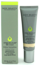 Juice Beauty Stem Cellular CC Cream SPF 30 Natural Glow 50 ml./ 1.7 oz. New in Box