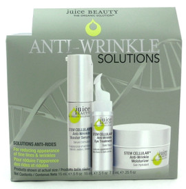 Juice Beauty Stem Cellular Anti Wrinkle Solutions 3 pcs Kit New In Box